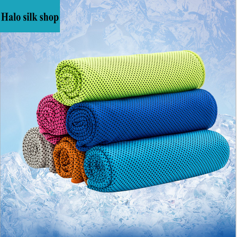 Sports Ice Towel: 6 Color Microfiber Towel Cold Towel Summer Sports Ice Cool