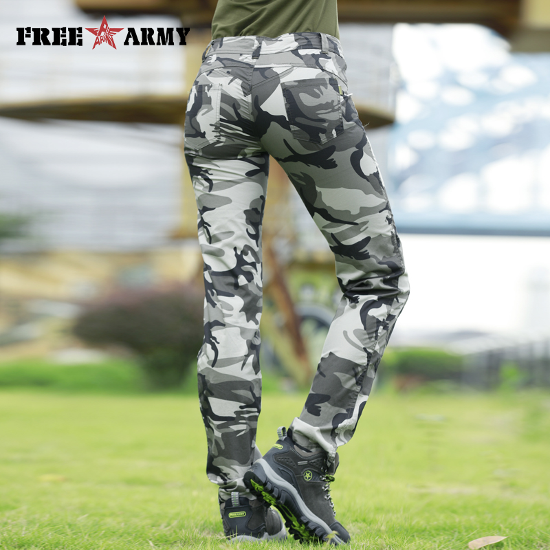 New Pattern Summer Pants Women Camo Casual Pants Military Army Trousers Straight Cotton Pants Capris Pants Female Plus Size in Pants amp Capris from Women 39 s Clothing