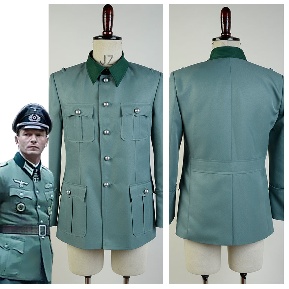 цены Deutsch Army German Military Uniform Men Cosplay Costume Coat Only Custom Made