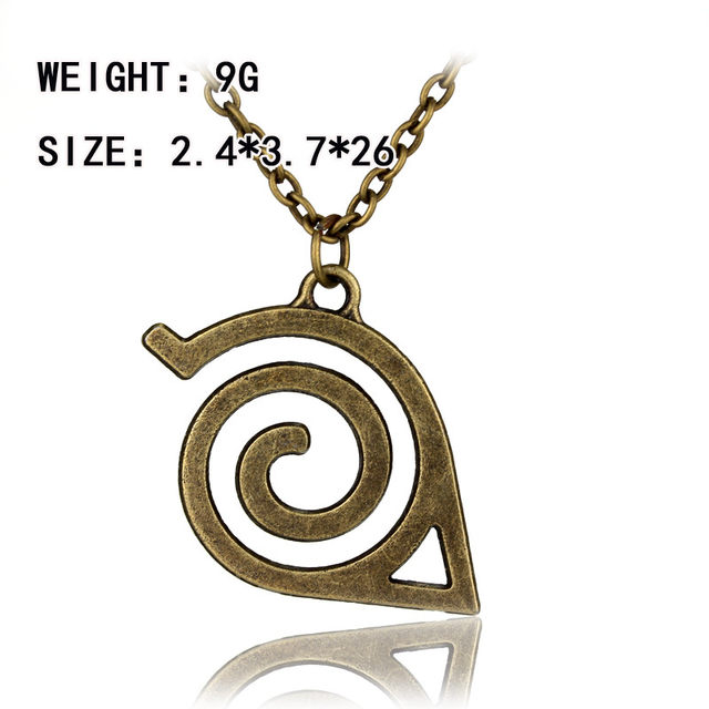 Online Shop Anime Jewelry Naruto Kakashi Leaf Village Symbol