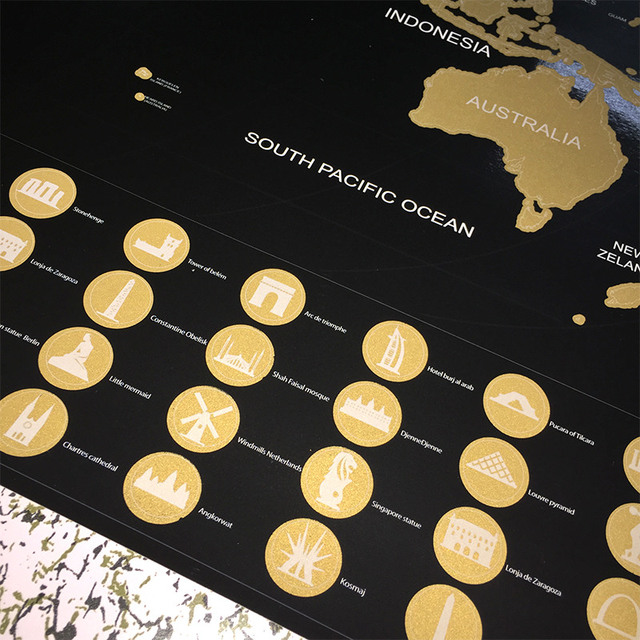 Travel world adventure maps black gold easy foil layer coating travel world adventure maps black gold easy foil layer coating poster personalized world map home wall gumiabroncs Images