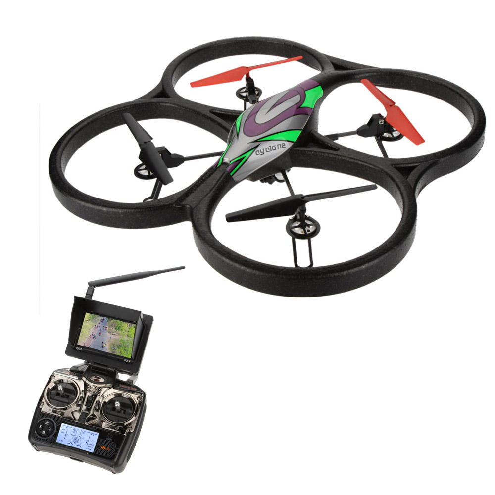 Professional <font><b>WLtoys</b></font> V666 5.8G <font><b>FPV</b></font> <font><b>6</b></font> <font><b>Axis</b></font> 4CH <font><b>RC</b></font> Big Quadcopter UFO Drone With 2.0MP HD Camera and Monitor RTF hexacopter