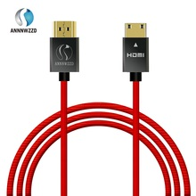 hot deal buy annnwzzd high speed gold plated plug hdmi to mini hdmi male-male hdmi cable 1.4 version 1080p 3d for tablets dvd pc hdtv project
