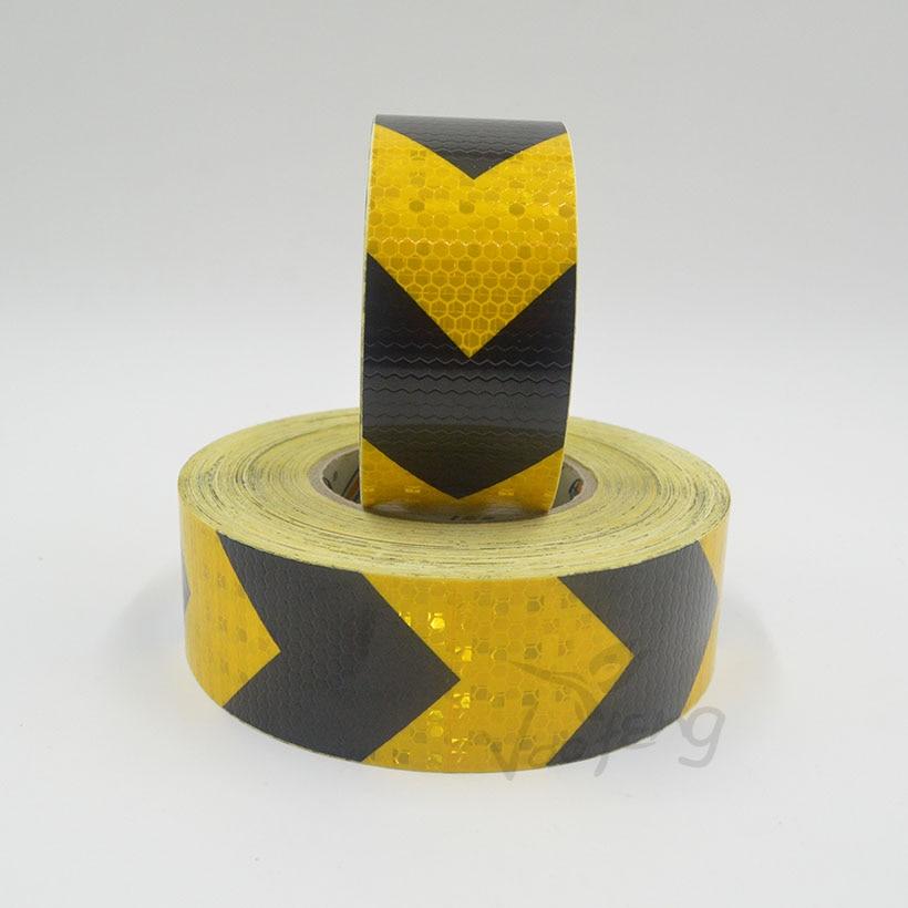 de advertencia reflexivo com seta impressao amarelo cor preta para carro 05