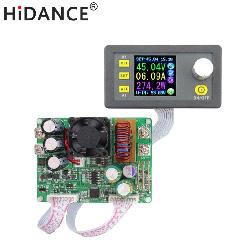DPS5015 15A постоянной Напряжение ток Шаг вниз программируемый цифровой Питание buck Напряжение конвертер цвет ЖК-дисплей вольтметр