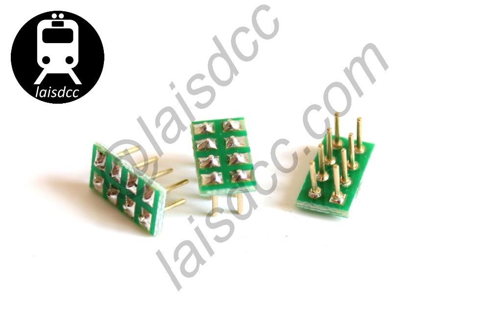 10 pcs Mâle NMRA Prise pour NEM652 8PIN Prise Femelle bulid-dans le DCC loco 860006/LaisDcc Marque