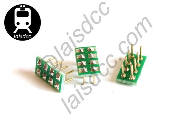 10PCS Male NMRA Socket for NEM652 8PIN Female Socket bulid-in DCC loco 860006/LaisDcc Brand