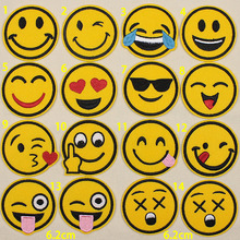 1pcs Face Expression Patches For Clothing Iron On Sewing Badge Applique Accessories Parches Ropa