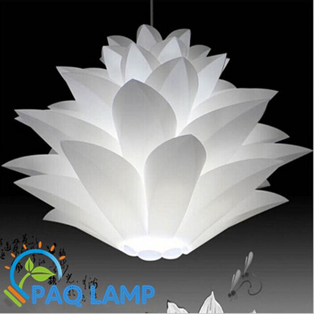 Flores de lírio luzes pingente lâmpada de material de PVC de diâmetro 40/50/60 cm lótus lampshape DIY quarto/lojas LEVOU luminária