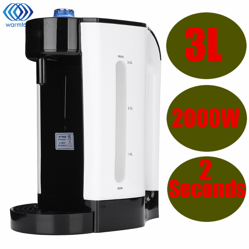 Electric Water Boiler Instant Heating 3L Electric Kettle Water Dispenser Adjustable Temperature Coffee Tea Maker Office