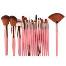 18 sztuk MAANGE zestaw pędzli do makijażu narzędzie puder do makijażu cień do powiek podkład rozświetlający mieszanie piękno pędzel do makijażu Maquiagem