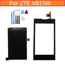 Genuino Pantalla LCD y Asamblea Del Digitizador de la Pantalla Táctil Para ZTE KIS 2 Max V815W V815 panel Cristal Digitalizador Lcd + herramientas de Reparación