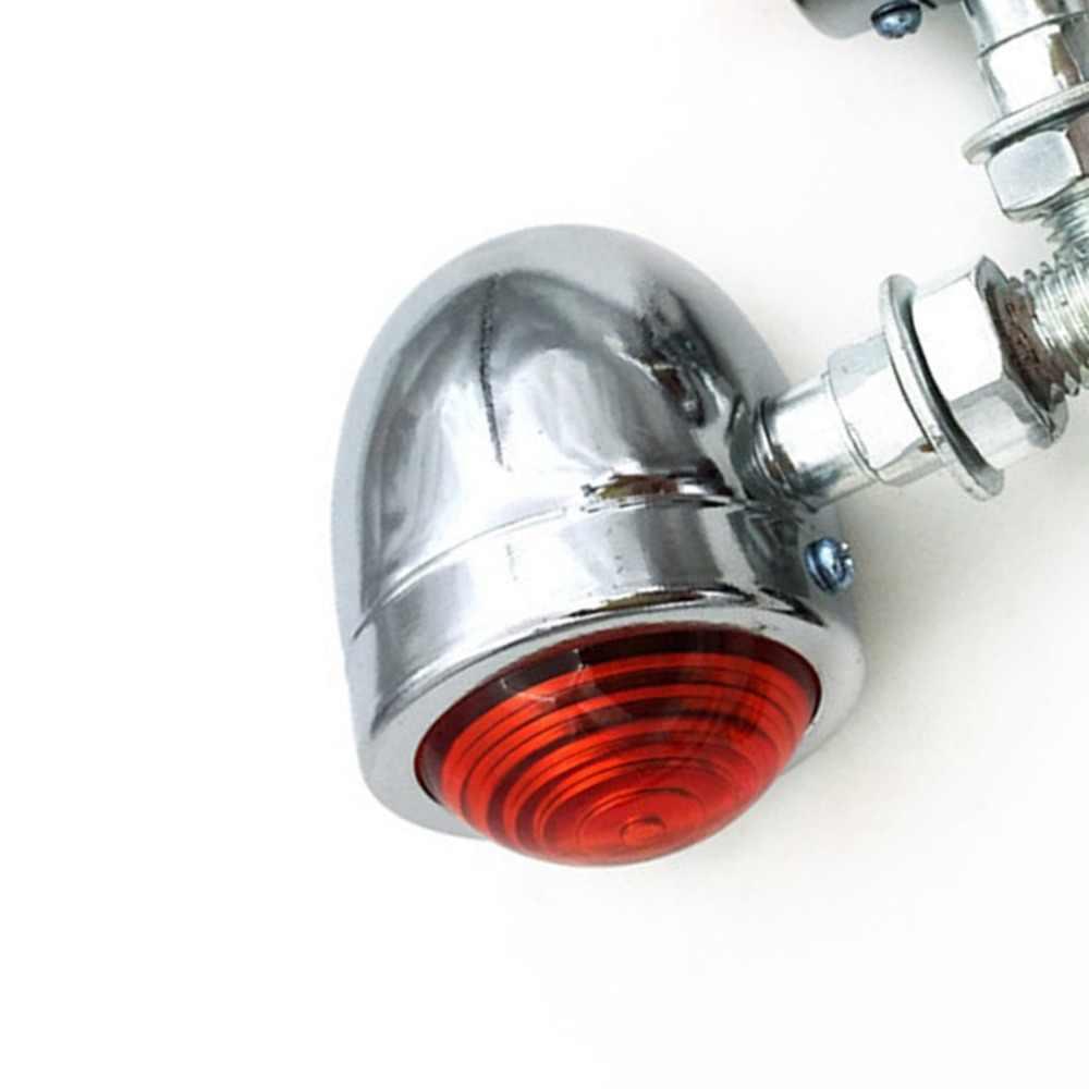 Motocicleta universal âmbar & preto mini bala led sinais de volta luzes de freio correndo indicadores sinais de volta quente