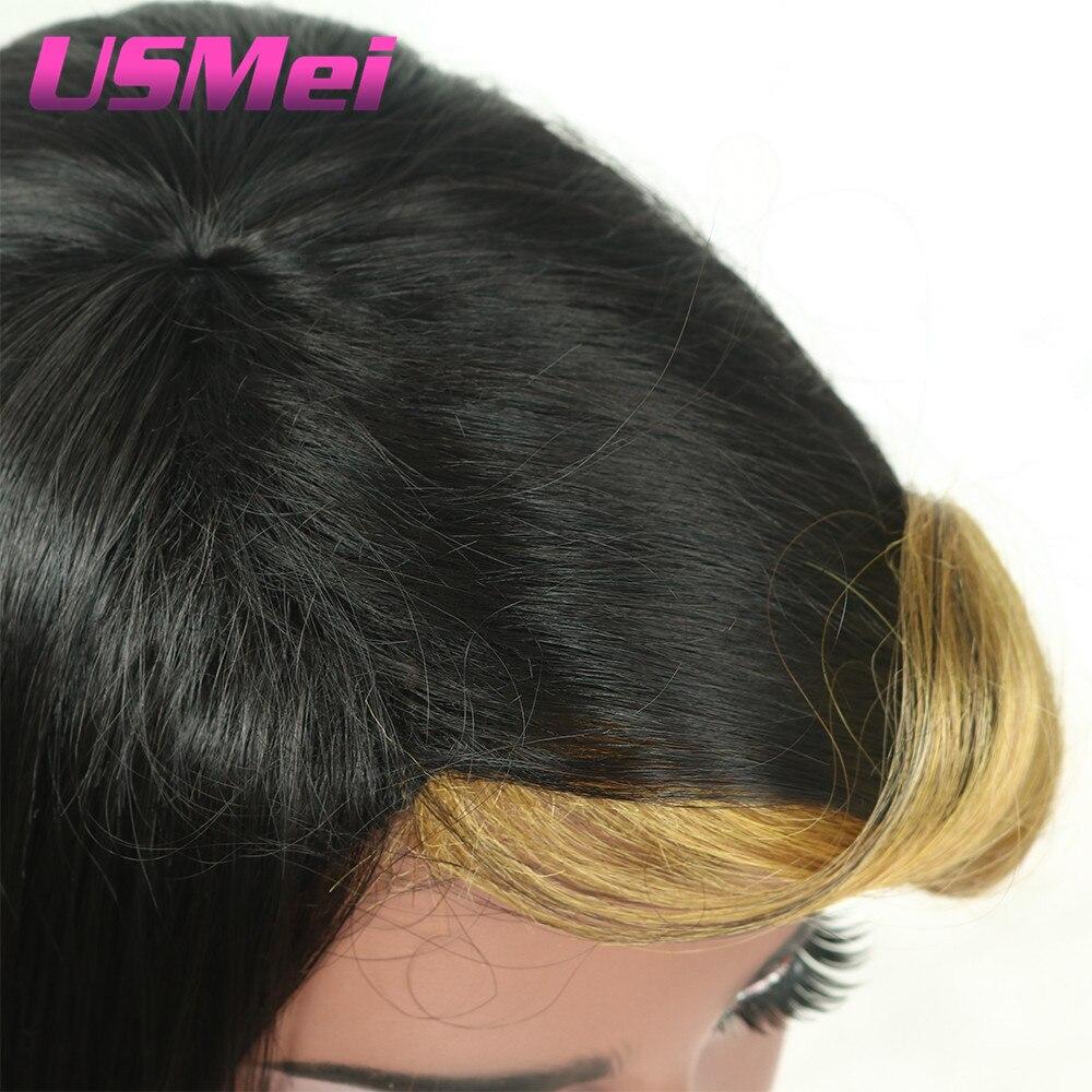 USMEI syntetiska peruker sa del vågigt hår Afro American Female - Syntetiskt hår - Foto 5