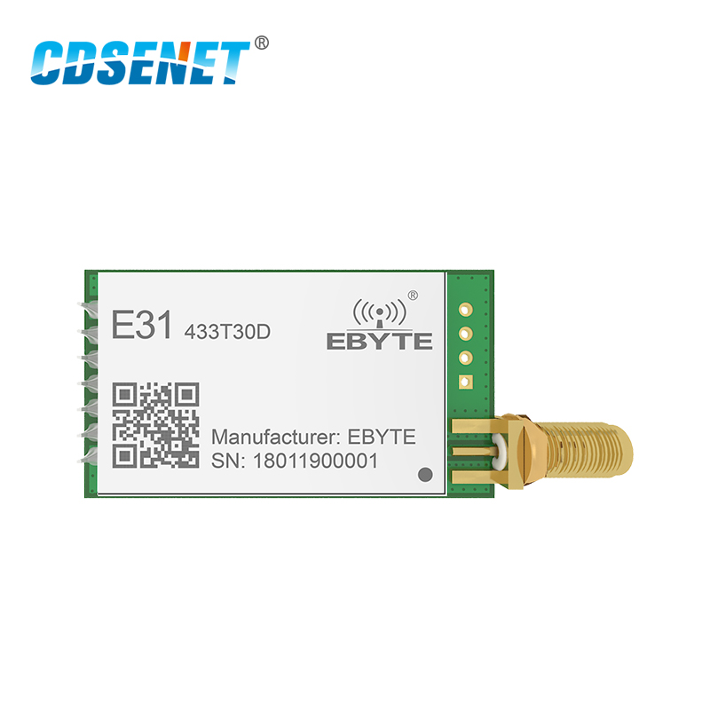 1pc AX5043 433MHz rf Transmitter Receiver Long Range Wireless rf Module  E31-433T30D 1W 433 mhz rf Transceiver iot Circuit