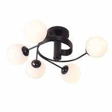 купить BOKT Nordic Creative Glass Ball Ceiling Lamp Simple American Country Led Children Light For Living Room Bedroom Restaurant дешево