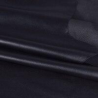 SICODA 22X30 см DIY ручной работы овчины Полный зерна черная голова мягкая тонкая кожаная куртка 1 мм