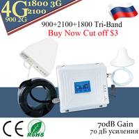 4G Signal Booster 900 1800 2100 4G Repeater 2G 3G WCDMA GSM LTE Tri Band Signal Booster lintratek Cellular LTE 4G Amplifier