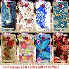 TAOYUNXI Phone Case For Huawei Y6 II Y5II Compact Y3 II MINI Y3 2nd Honor 5A Play Y635 CL00 Y5 Y560 Flower Back Cover Skin