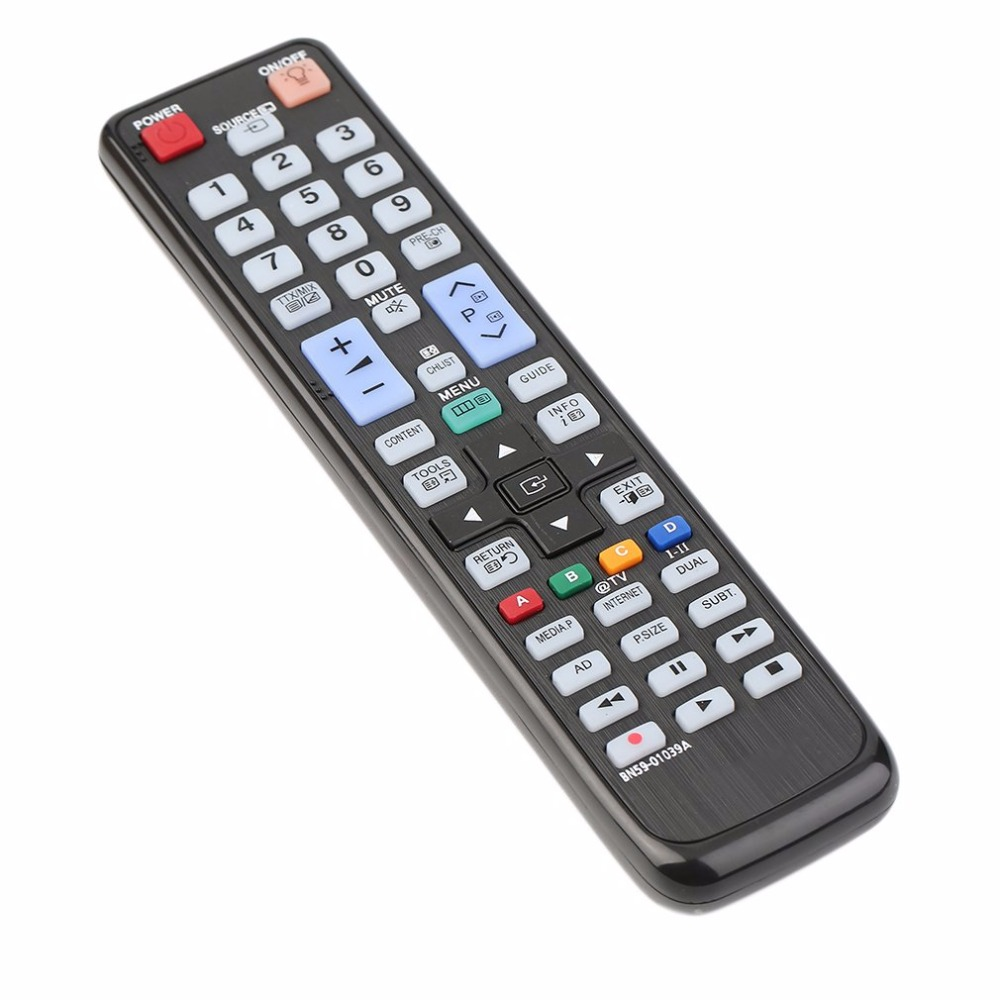 Black Plastic Perfect No Programming Required Replacement Remote Control For Samsung BN59-01039A 3D DVD Smart TV