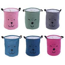 Прачечная корзина для хранения организации складной игрушка стол хлопок белье с ручкой грязная одежда корзина для хранения мелочей