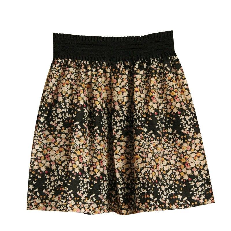 Fashion Pleated Retro High Waist Summer floral plaid Short Mini Skirts 3