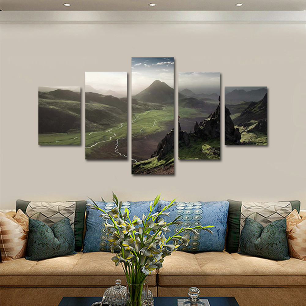 Unframed Canvas Painting Blue Sky Mountain Spectacular Photo Picture Prints Wall Picture For Living Room Wall Art Decoration