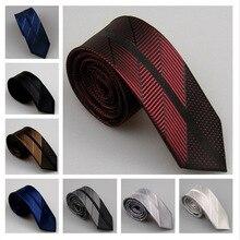 LAMMULIN новые мужские галстуки для костюма косой Полосатый горошек Шелковый галстук микроволокнистый жаккард тощий галстук 6 см Свадебный, вечерний галстук