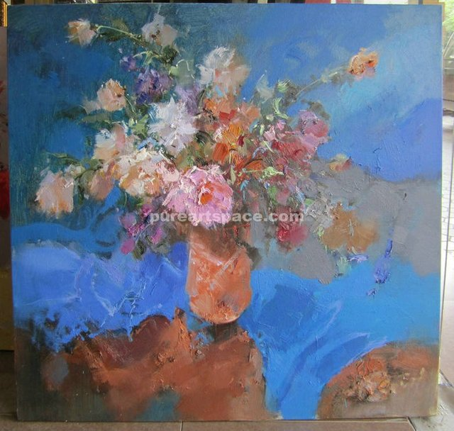 Top Qualtiy Original Abstract Paintings Of Flowers In Vases Still