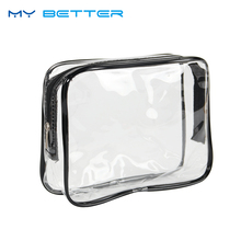 Travel Portable PVC Transparent Waterproof Cosmetic Bag Women Makeup Toiletry Bags Organizer Case