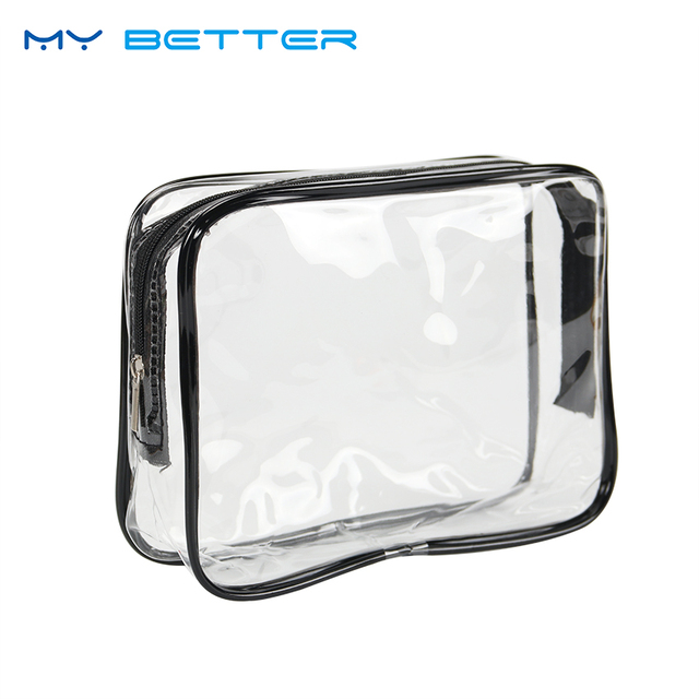 1a4ad75f95 Travel Portable PVC Transparent Waterproof Cosmetic Bag Women Makeup  Toiletry Bags Makeup Organizer Case