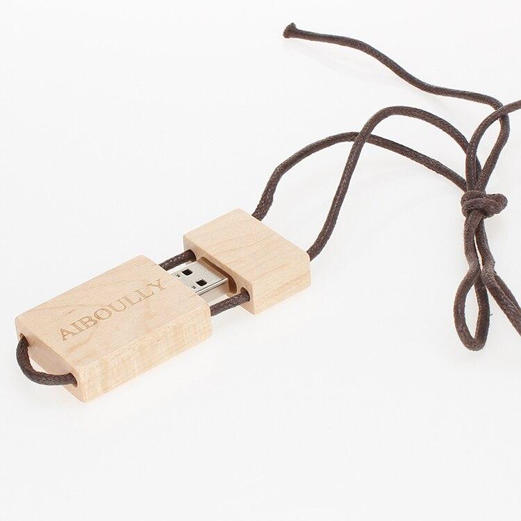 Image 3 - usb flash drive 32gb pen drive 16GB custom LOGO wood U disk 64gb USB flash memory 128gb 4GB 8GB wedding gifts with box free ship-in USB Flash Drives from Computer & Office