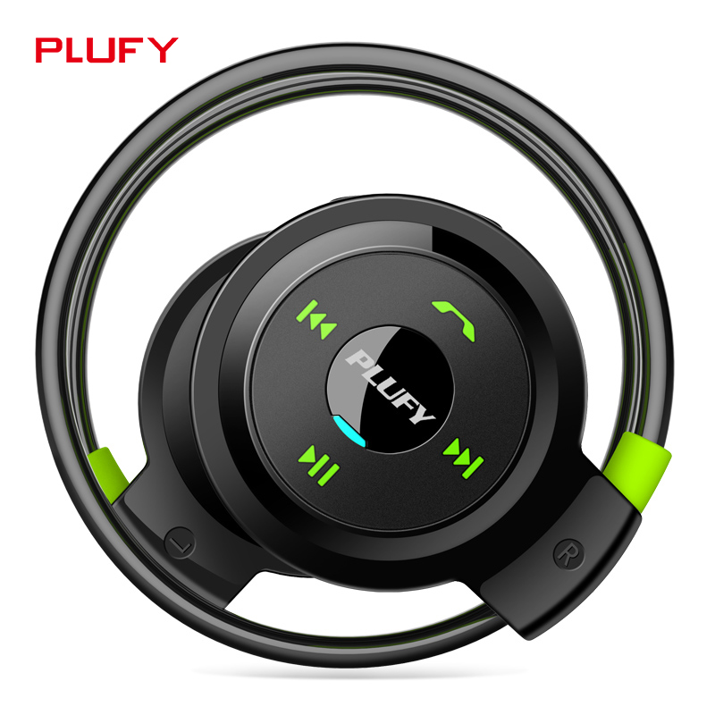 Plufy Bluetooth Headset Wireless Stereo Headphone Sweatproof Sport Earphone for iPhone 7 Android Phone L7