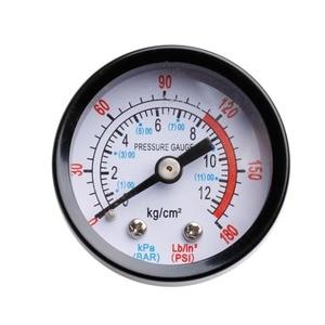 Image 4 - エアコンプレッサー空気圧油圧流体圧力計 0 12Bar 0 180PSI