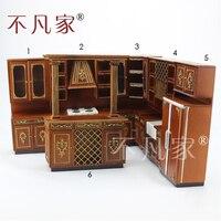 Кукольный 1/12th Весы миниатюрная мебель высокое качество ручной работы Кухня шкафов