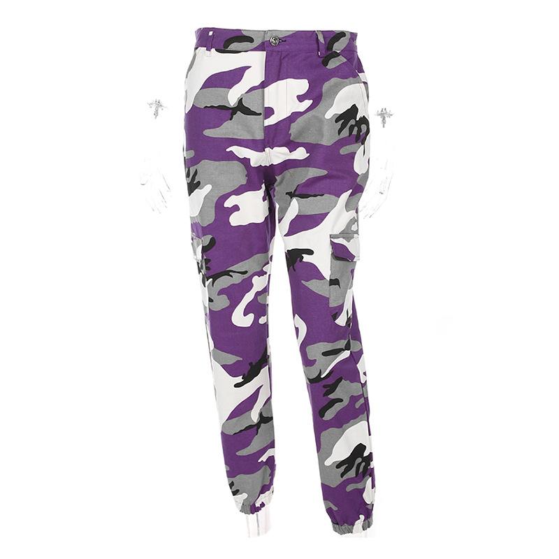 HTB1aZ1oXWagSKJjy0Fbq6y.mVXaJ - Women Purple/Pink/Red/Camo Pants Fashion Street Jean Trousers PTC 251