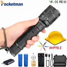 80000LM High-power LED Tactical Flashlight Waterproof Zoom able 3 Modes Electric Torch for Camp Tour z45