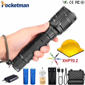 80000LM High-power LED Tactical Flashlight Waterproof Zoom able 3 Modes LED Electric Torch for Camp Tour LED Flashlight z45