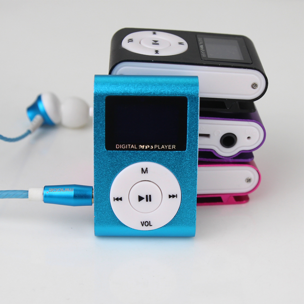 2019 New Portable Movement MP3 Player LCD Screen Metal Mini Clip Player With Micro TF/SD Card Slot  Music Players