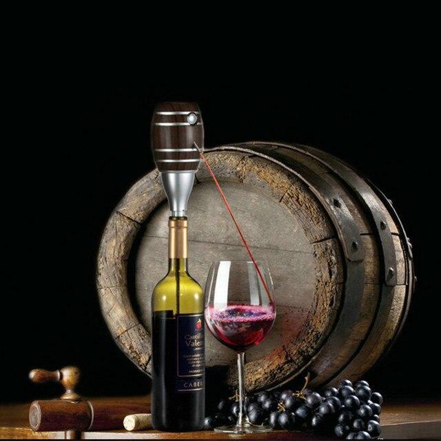 Top quality Barrel Shaped Wine Pourers Decanter Electric Cider Pump Aerator Pourer Design Wine Juice Bottle Drinks for parties