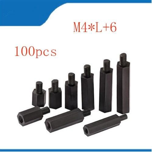 100PCS/Set Nylon Spacer Standoff M4 Hex Column Standoff Spacer Screw screw m4 bolt 20pcs m3 copper standoff spacer stud male to female m3 4 6mm hexagonal stud length 4 5 6 7 8 9 10 11 12mm
