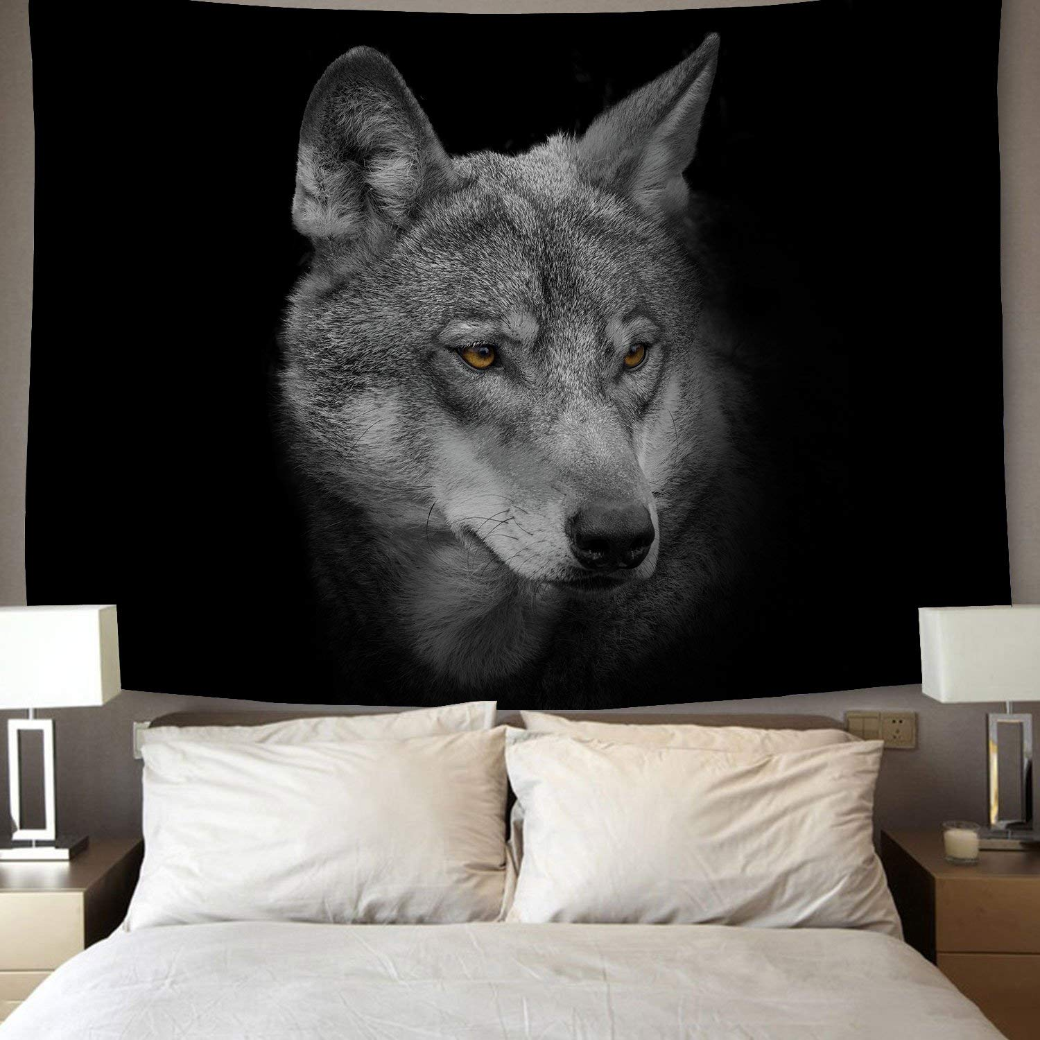 Home Decor Wolf Trex Tapestries Running Wolf Animal Wall ...