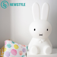 50cm Baby BedRoom Rabbit Night Light Dimmable Children Warm White LED Night Lamp Cartoon Decorative Lamp