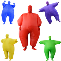 10 Colors Sumo Inflatable Wrestling Suit Cosplay Costumes Inflated Garment Halloween Christmas Party Clothes Full Body Suits Toy