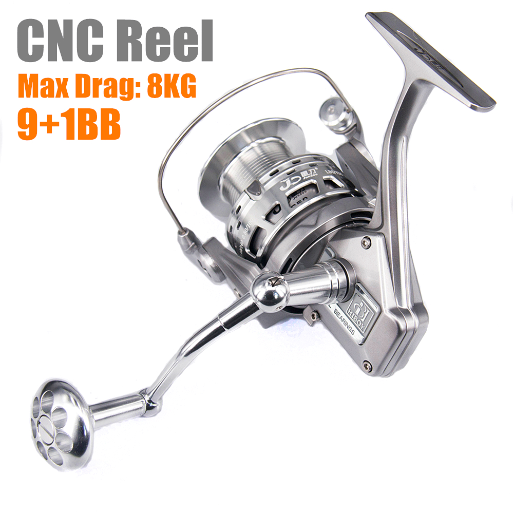 Max drag 8kg 9+1 BB Spinning Alloy CNC Fishing Reel knob sea Alloy Casting Trolling Reels vissen Stainless Steel VS Stradic 3000l rear drag spinning carp bait casting trolling boat sea fishing reel