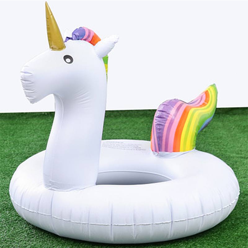 90/120CM Unicorn Swimming Ring Inflatable Ring Buoy Giant Float Child Women Swimming Circle Mattress Summer Pool Party Water Toy