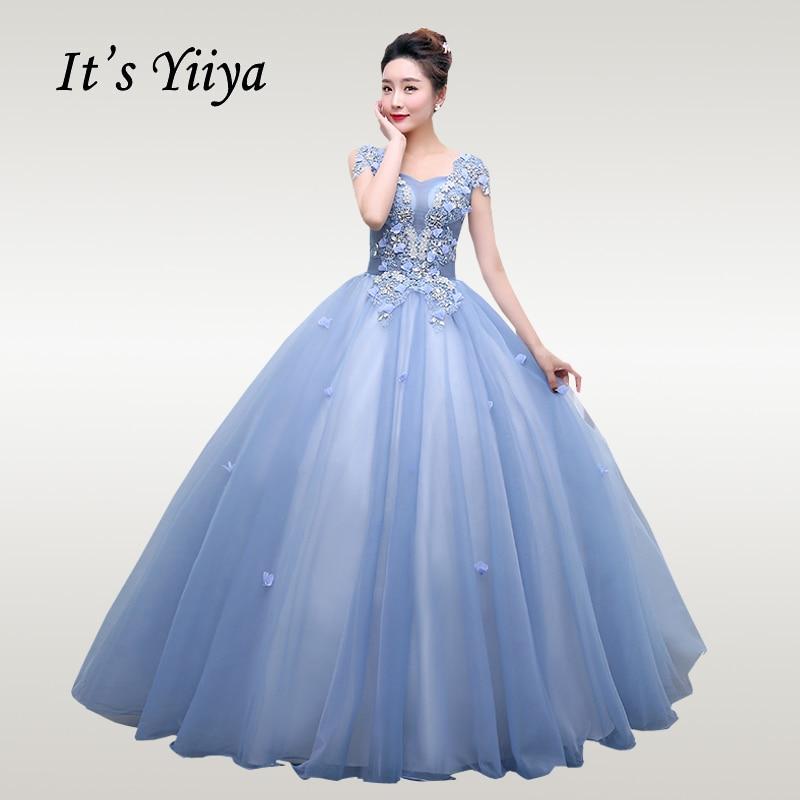 It's YiiYa Wedding Dress 2019 Full Appliques Sleeveless Wedding Dresses Floor Length Lace Plus Size Vestido De Novia CH016