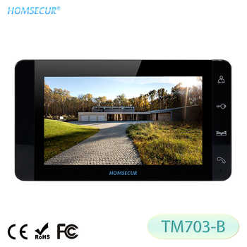 "HOMSECUR 7"" TM703-B Black Indoor Monitor For HDW Wired Video Door Phone Intercom System"