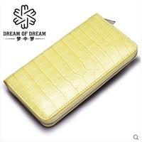 mengzhongmeng korea edition fashion lady crocodile women bag hand bag crocodile leather zipper bag female long purse