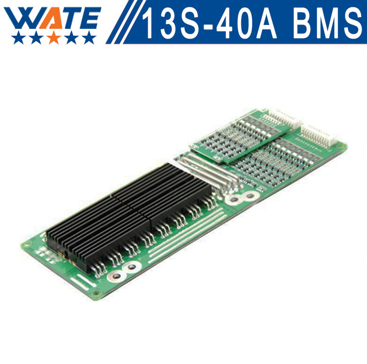 Free shipping Brand 48v bms 13S 40A High quality batterie smart bms 48v li ion BMS li-ion battery 3.7v protection board 13S40A 10s 36v li ion lithium cell 40a 18650 battery protection bms pcb board balance r179t drop shipping